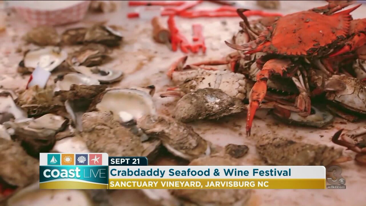 A sample of the Crabdaddy Seafood and Wine Festival on Coast Live