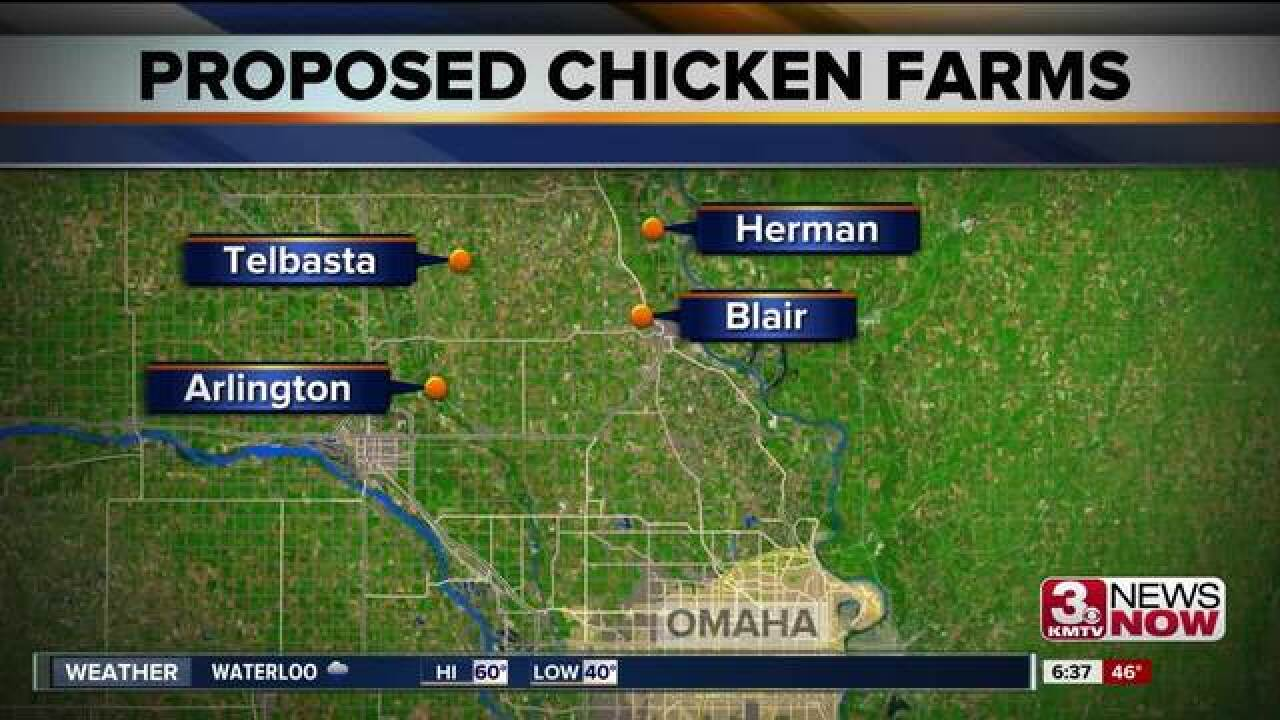 More opposition for chicken farms in Blair