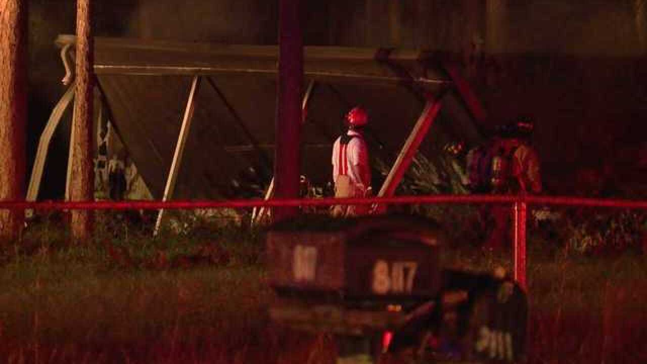 Mobile home destroyed by fire in N. Fort Myers