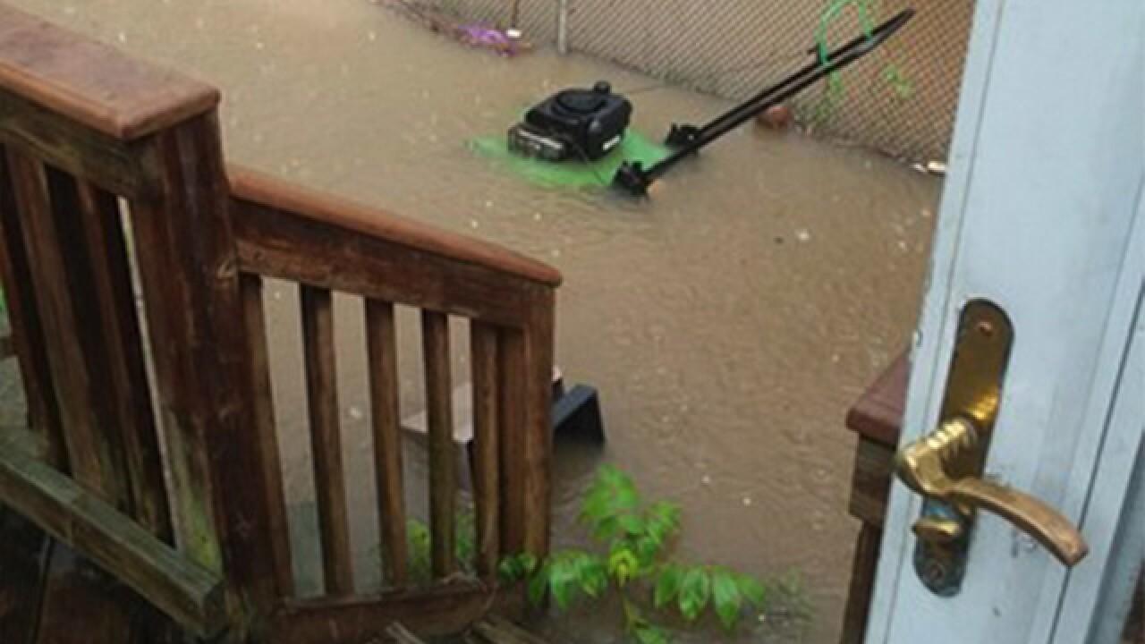 Rain wreaking havoc again in Baltimore County