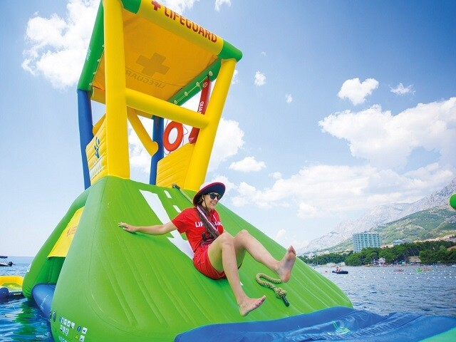 PHOTOS: Floating waterpark set to open in northern Indiana