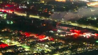 Massive explosion damages several buildings in Houston