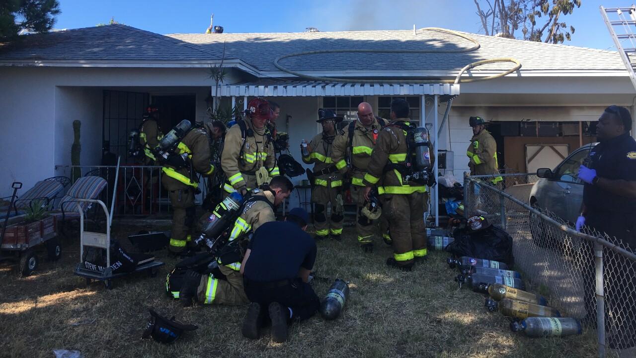 LEMON GROVE HOUSE FIRE