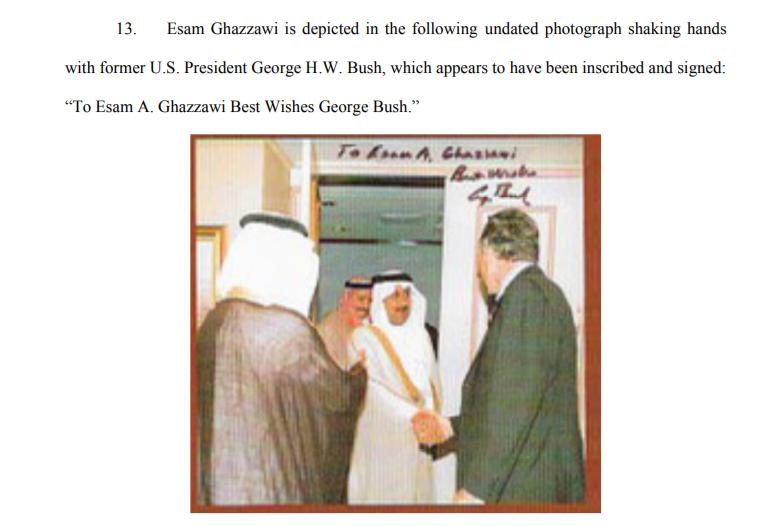 Esam Ghazzawi with former President George Bush