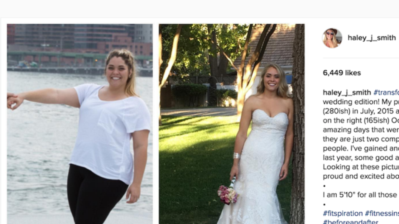 Seeing her engagement photos were woman's wake-up call to lose 110 pounds