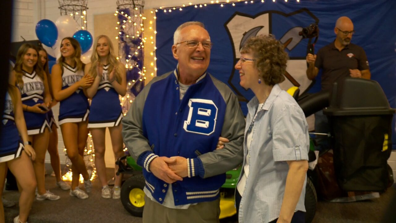 Bingham High's 'Lunchroom Grandpa' surprised with letterman jacket and more
