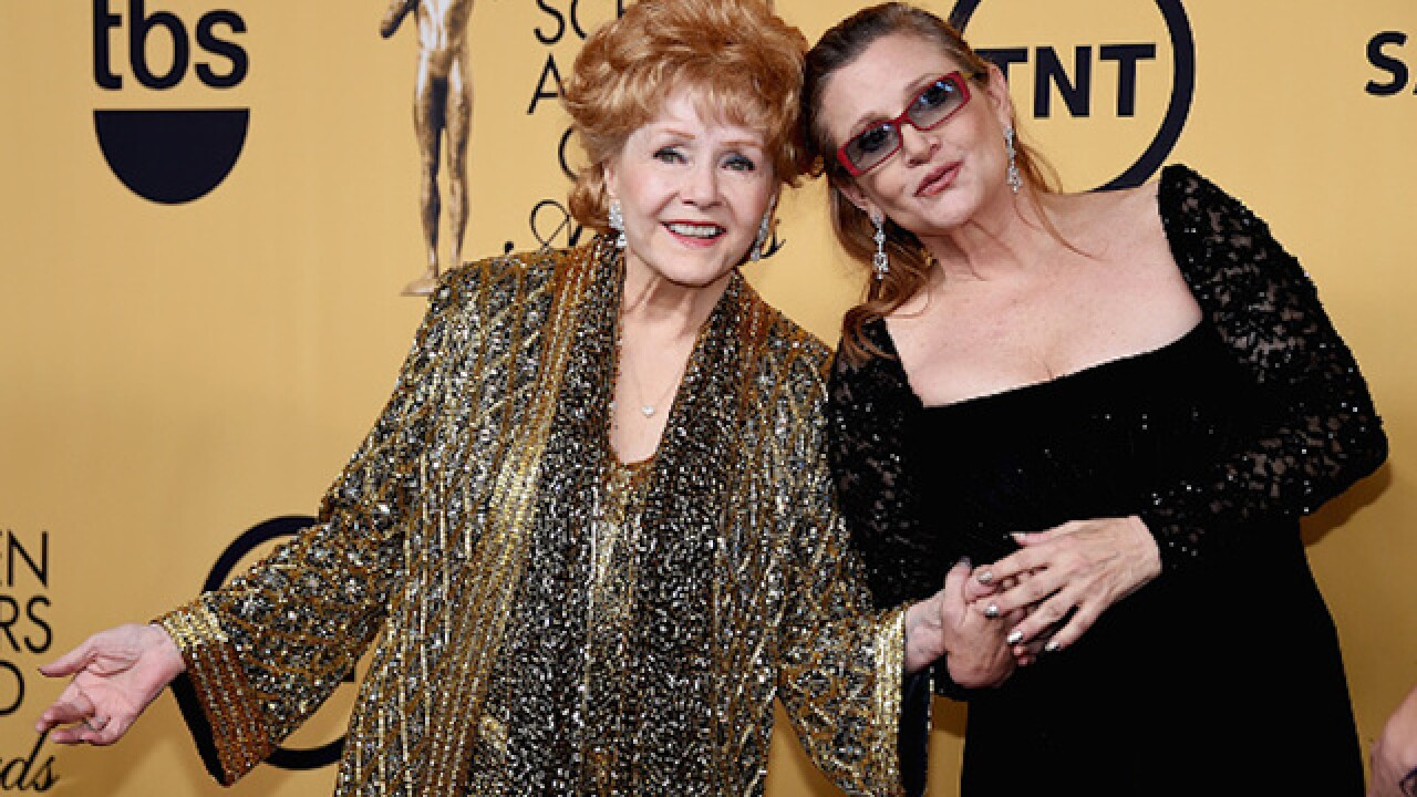 Debbie Reynolds, Carrie Fisher's mother, has died