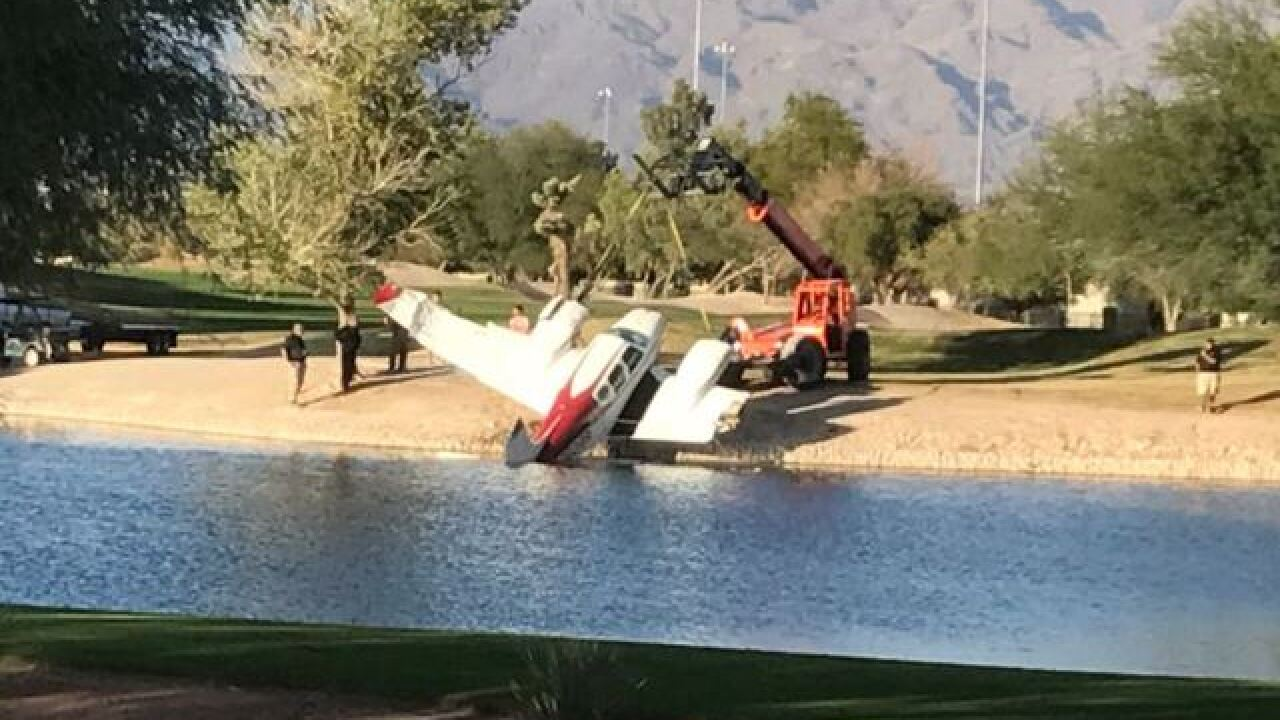 Plane crashes at Las Vegas golf course