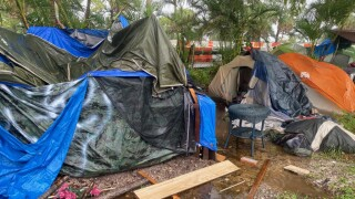 Homeless tents at John Prince Park