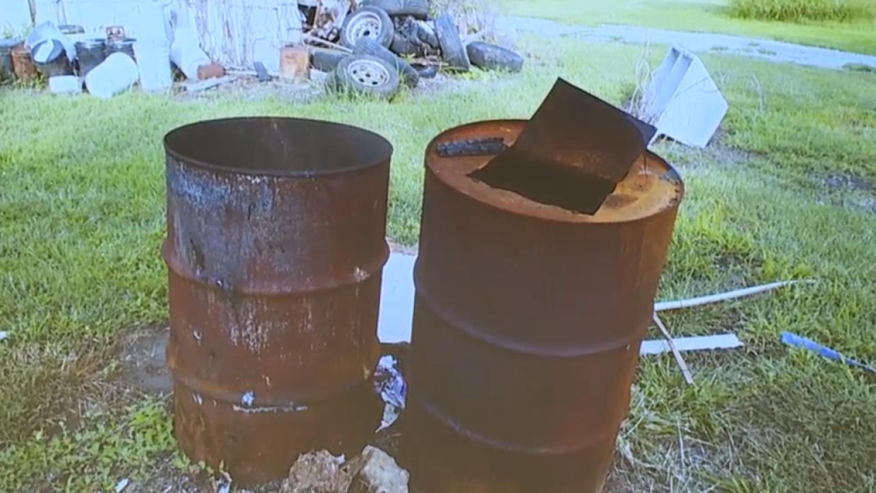 kylr yust trial burn barrels pic