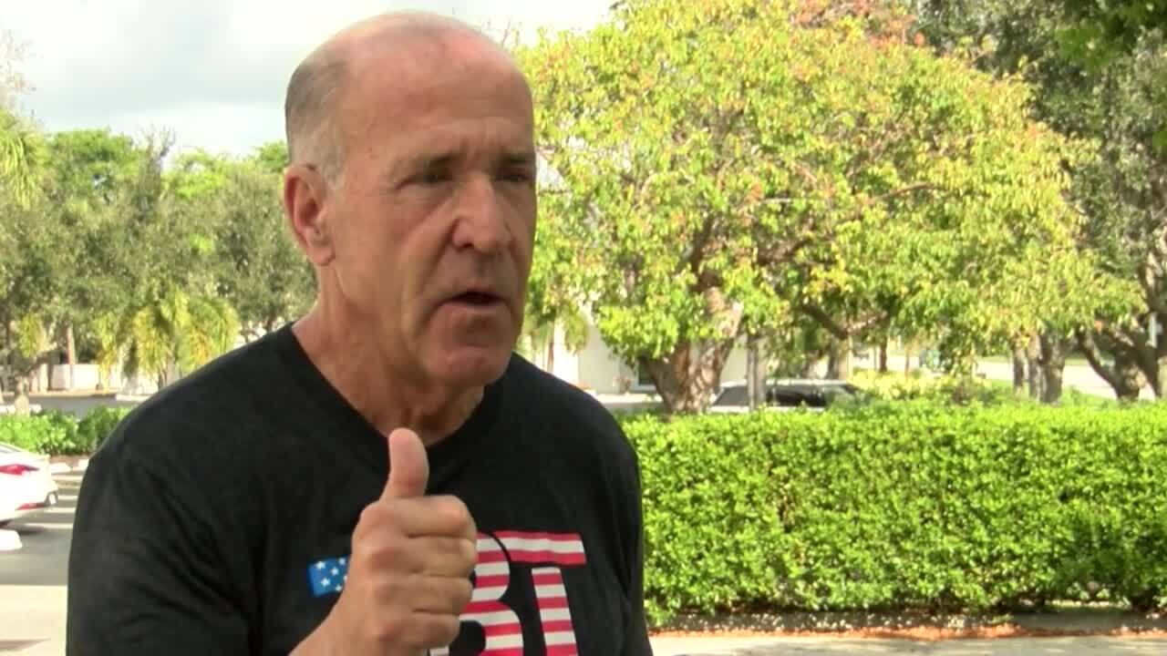 Frank Biden, brother of Joe Biden, speaks to WPTV at holiday event in Boca Raton, Nov. 21, 2020