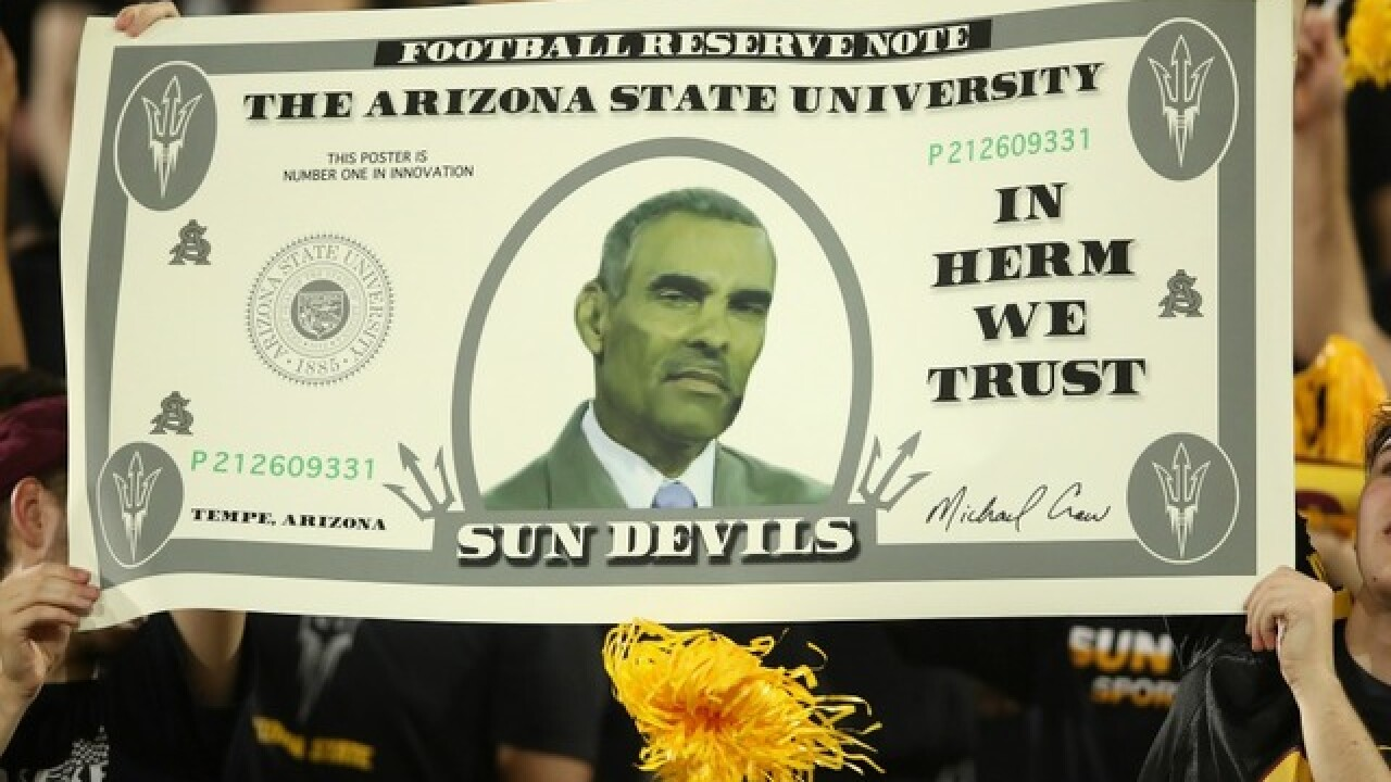 Herm Edwards' TV coaching has worked well for the newly-ranked Sun Devils