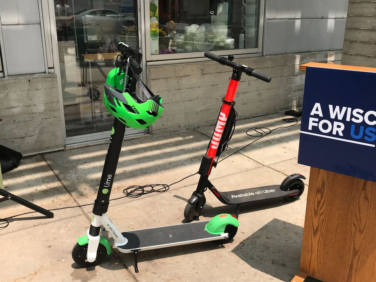 Lime and Jump scooters