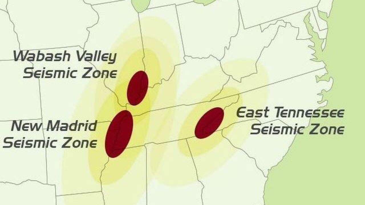 Indiana sits near two major fault lines, one which has a ...