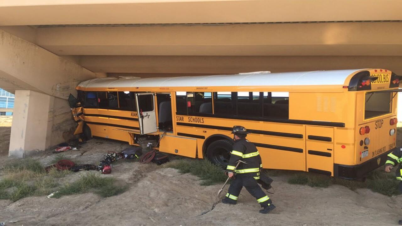 School bus crash at Denver International Airport