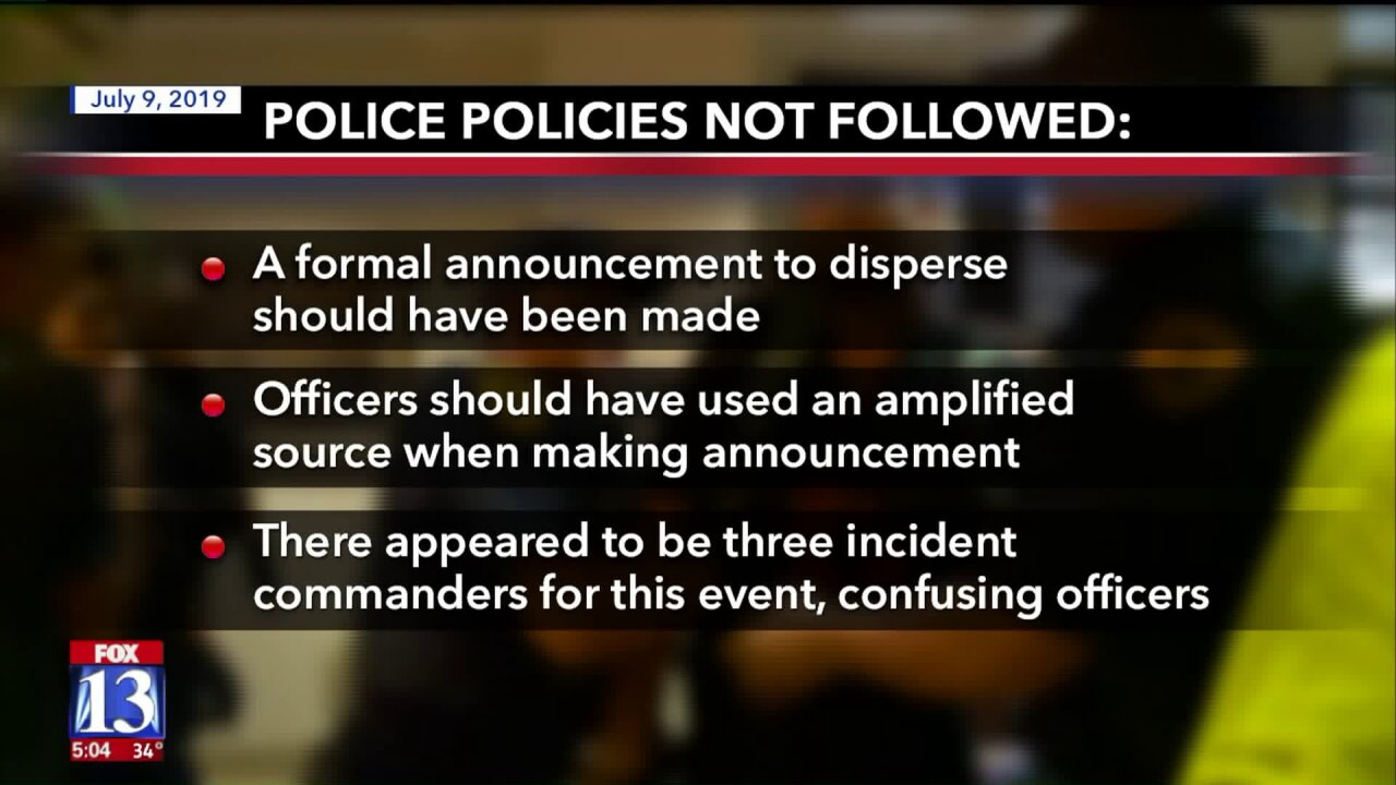 SLCPD release review on how officers handled July inland port protest