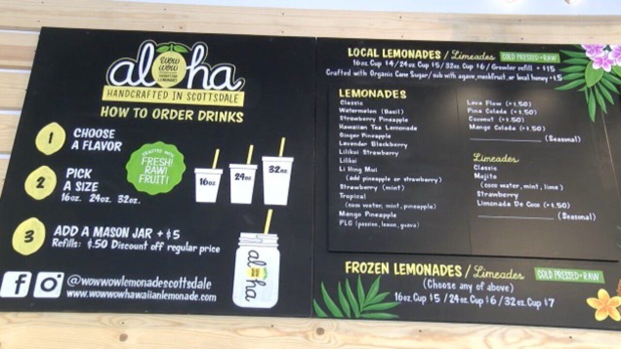 ALOHA! Wow Wow Lemonade brings Hawai'i to AZ