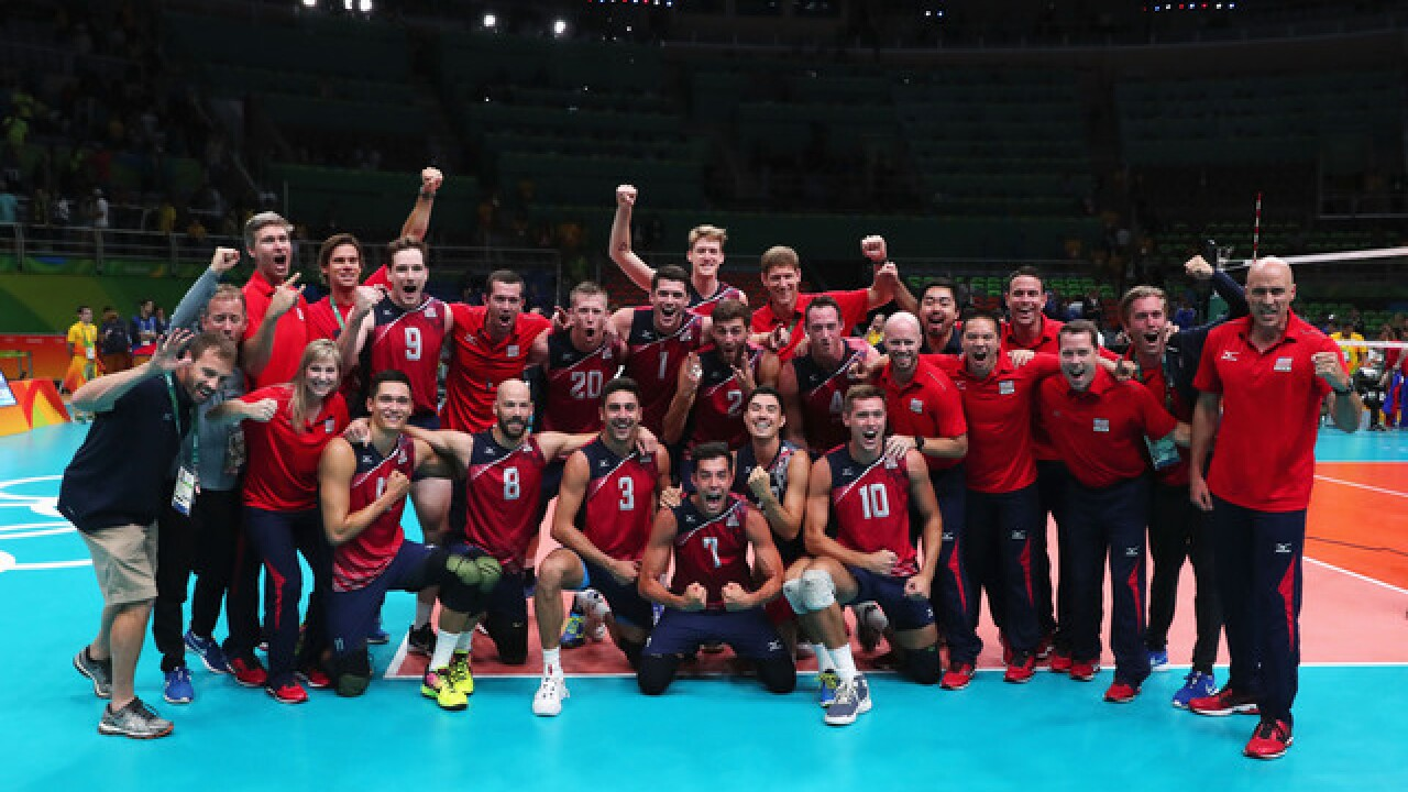 Purcell grad wins bronze in men's volleyball