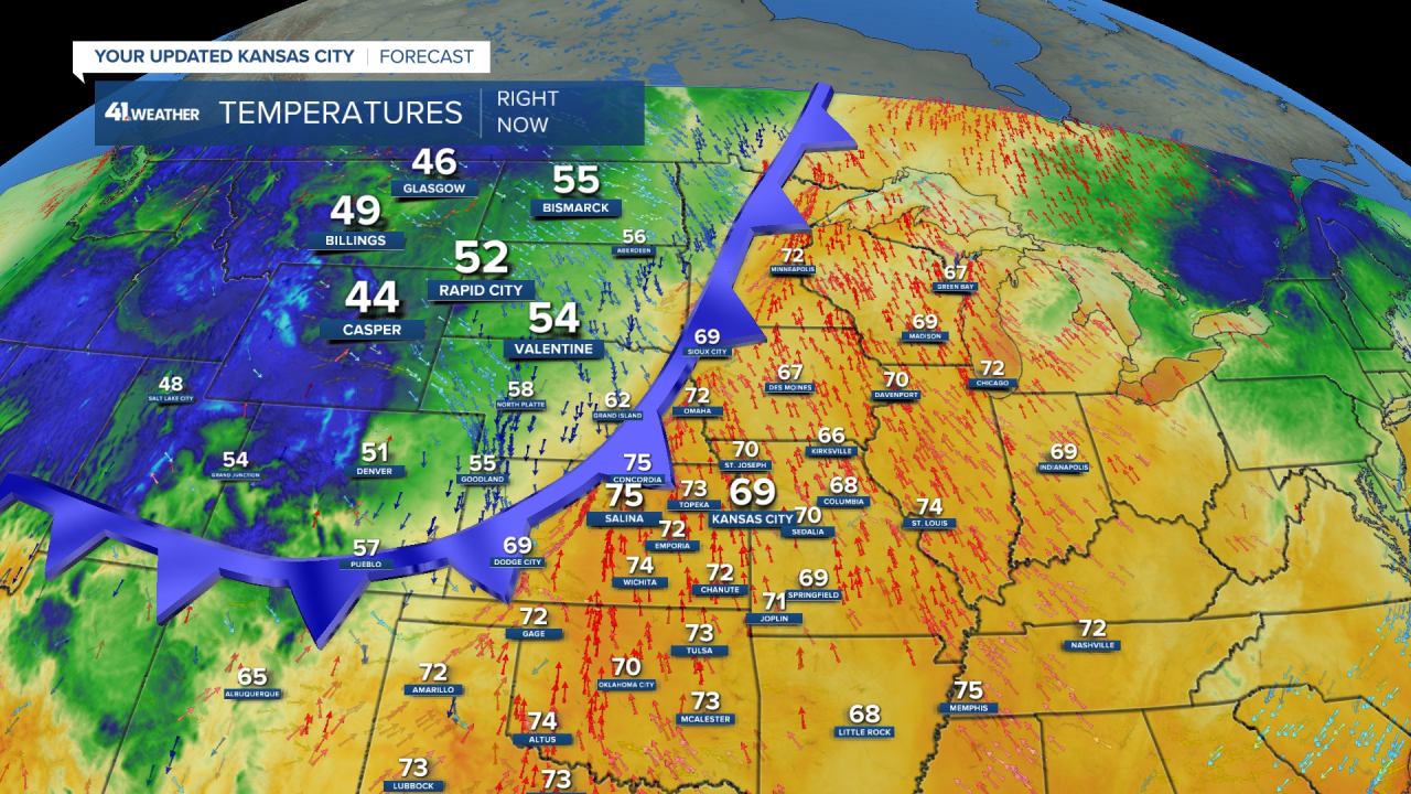 First Fall Cold Front At 7:25 AM