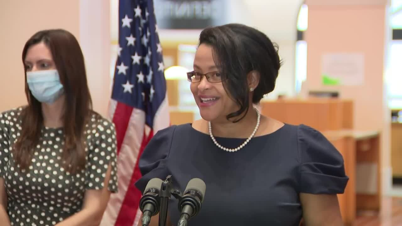 Judge Renatha Francis smiles after being appointed to Florida Supreme Court