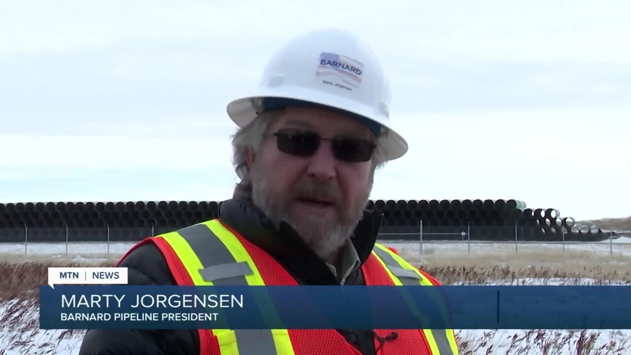 Marty Jorgensen, president of Barnard Pipeline