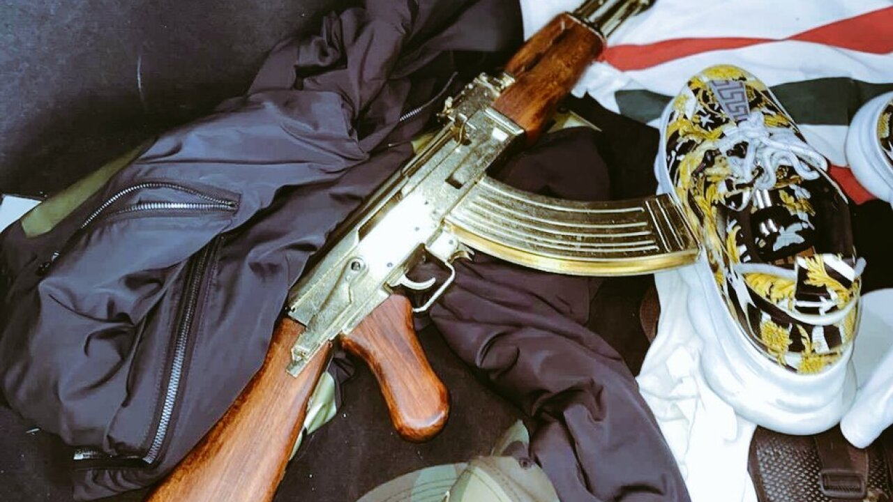 Capt. Dori Koren with LVMPD shared an image of a gold-plated AK-47 recently recovered on the Las Vegas Strip.