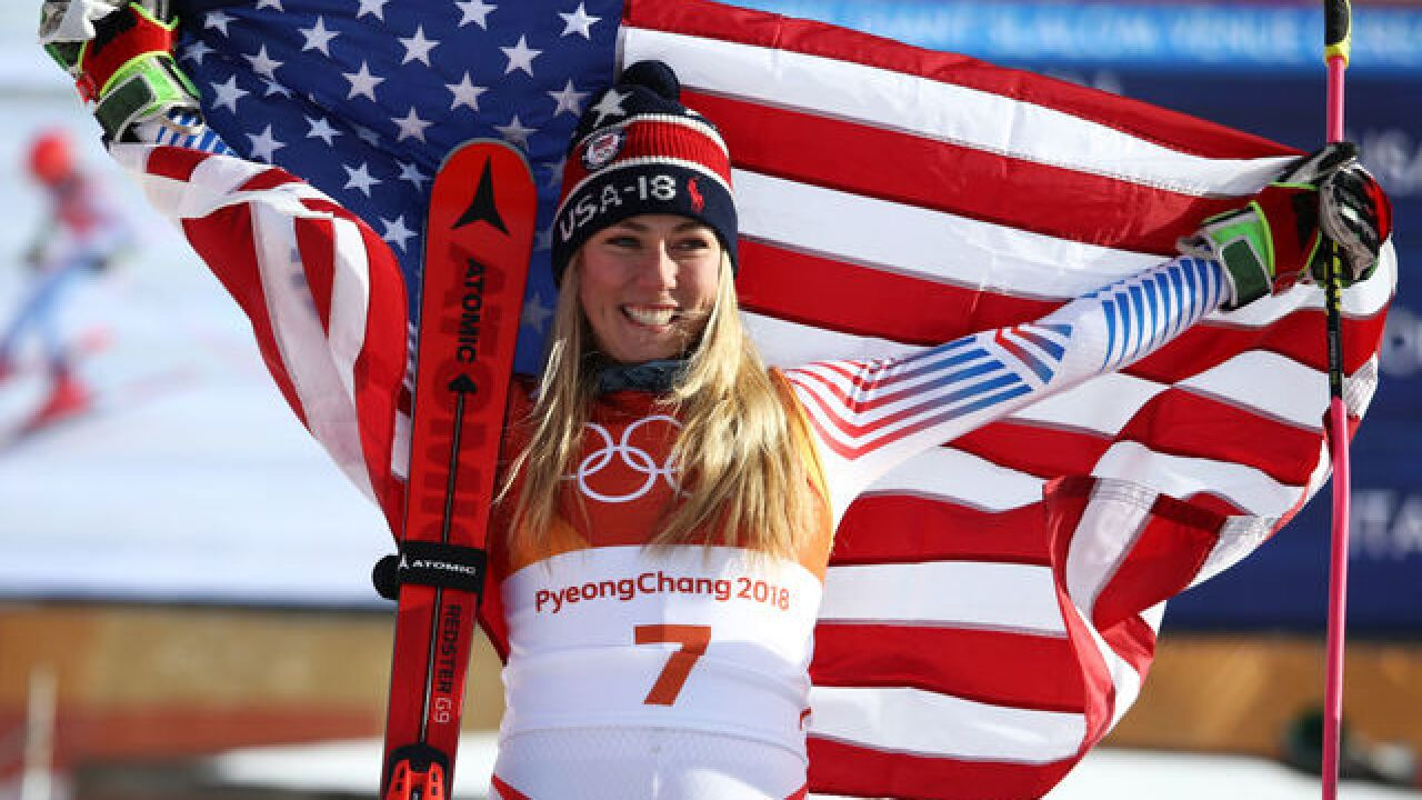 Mikaela Shiffrin wins giant slalom gold medal