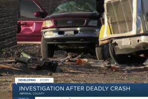 Federal agencies conduct investigations into deadly crash in Imperial County