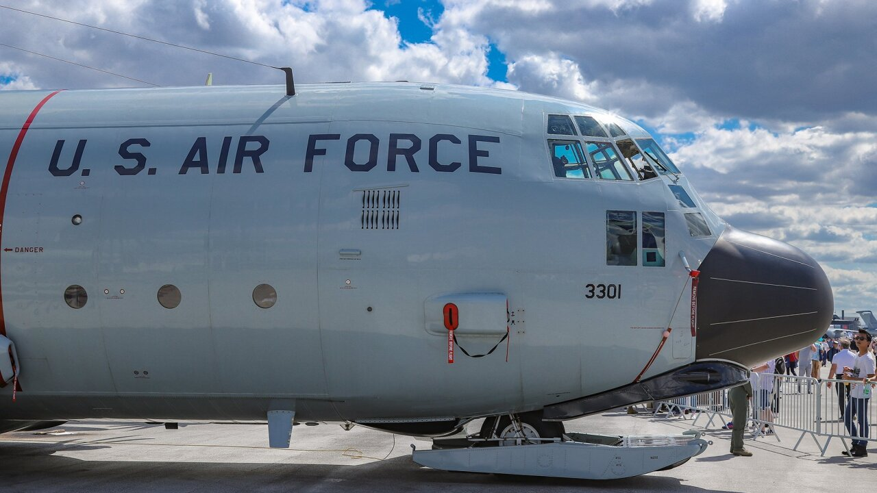 An Air Force airman is missing after falling from a plane into the Gulf of Mexico