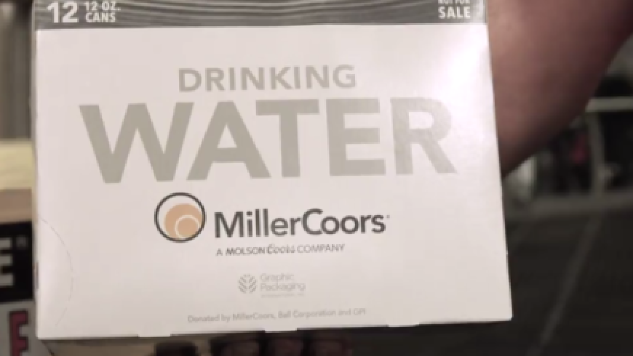 MillerCoors is donating 100,000 cans of drinking water to the ravaged areas of the Midwest