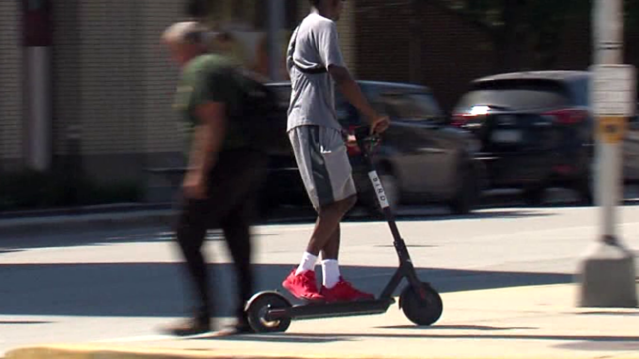 Scooters hit the streets of Bloomington