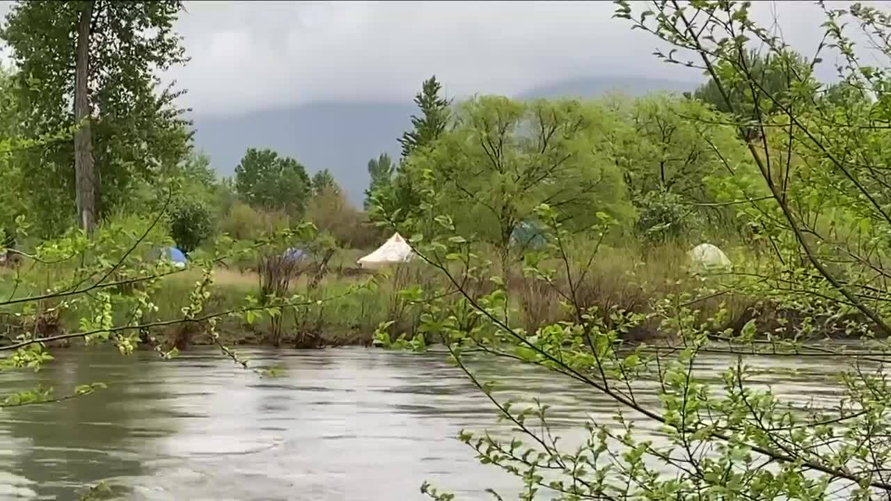 County officials concerned with safety in homeless camp as Clark Fork floods