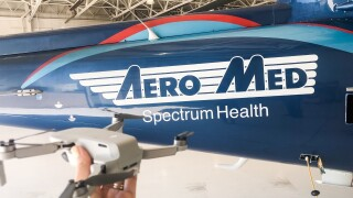 Aero Med avoids crash with drone at Butterworth Hospital