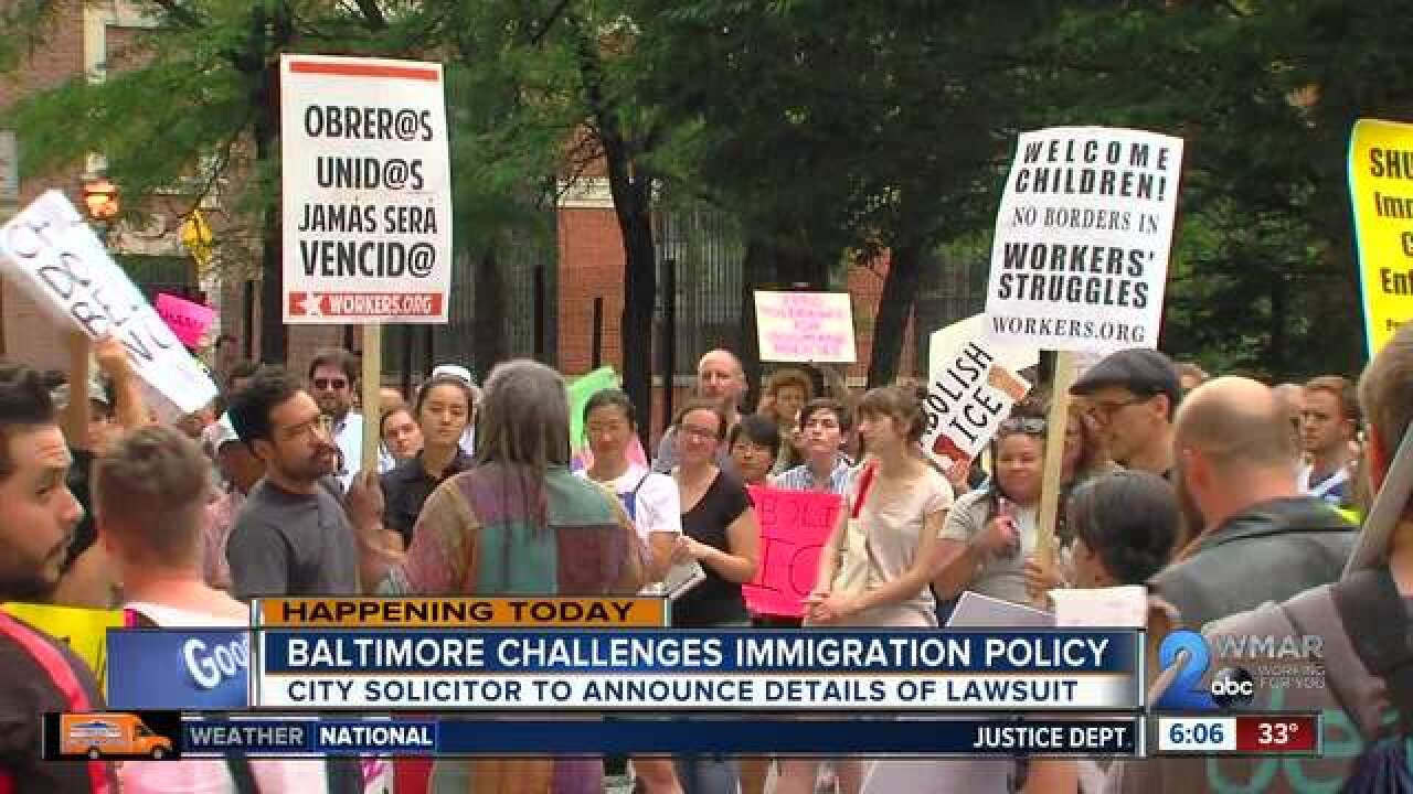 Baltimore challenges Trump's immigration policy