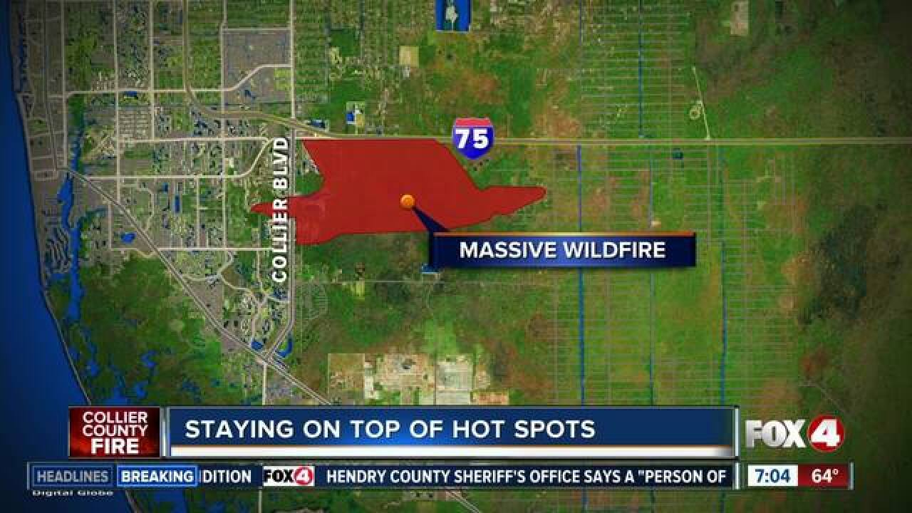 Collier County Wildfire Map.Collier County Brush Fire Now 90 Contained