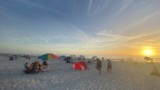Beachgoers at St. Pete Beach