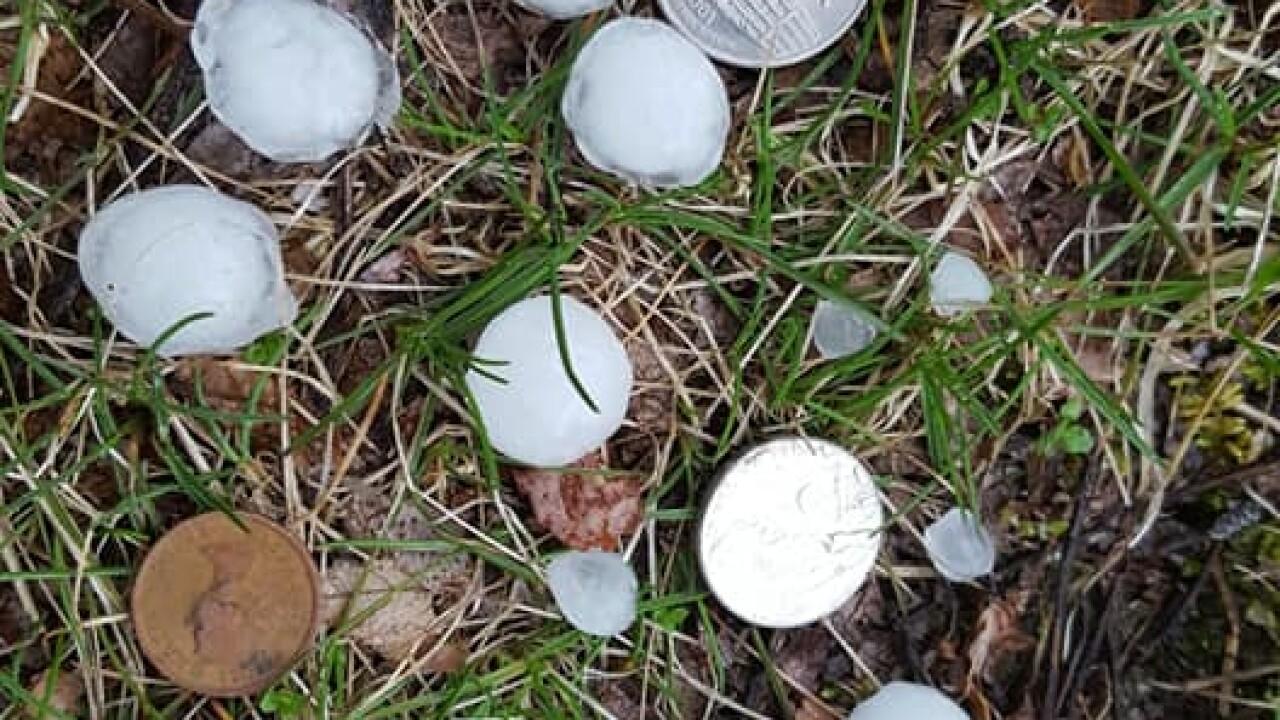 Hail, courtesy Mark Johnson