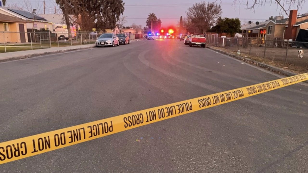 Bakersfield Police Department on scene for a victim with a gunshot wound