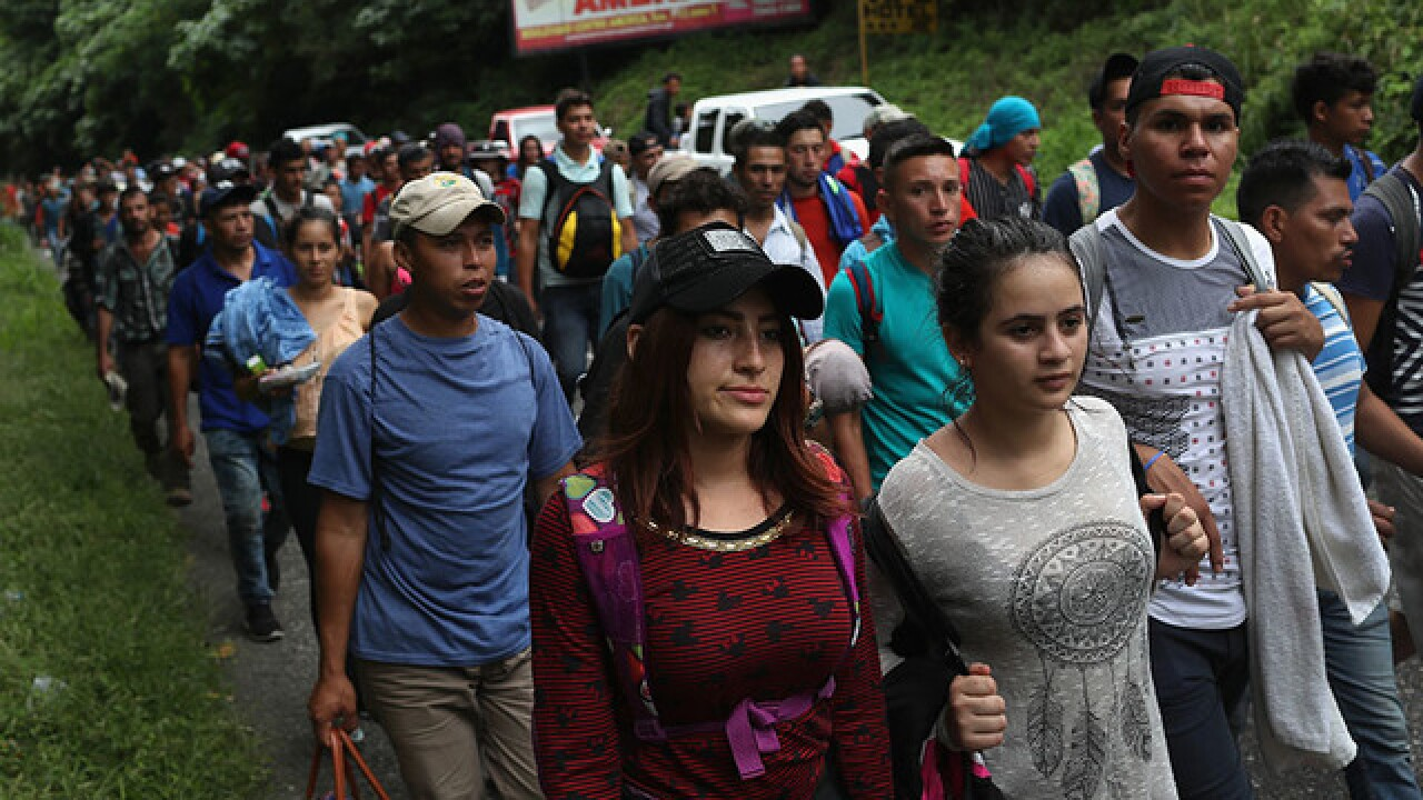 Trump threatens caravan heading to US