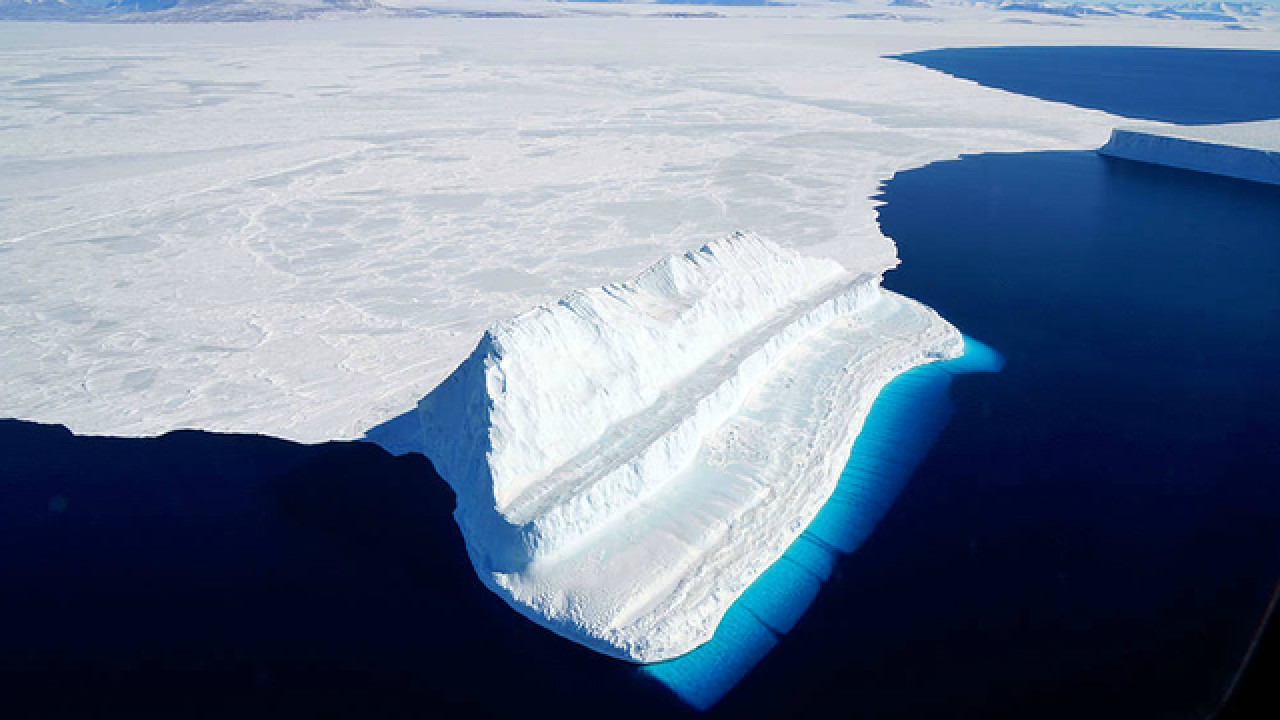 The Bluest of Ice captured in magnificent photograph by NASA