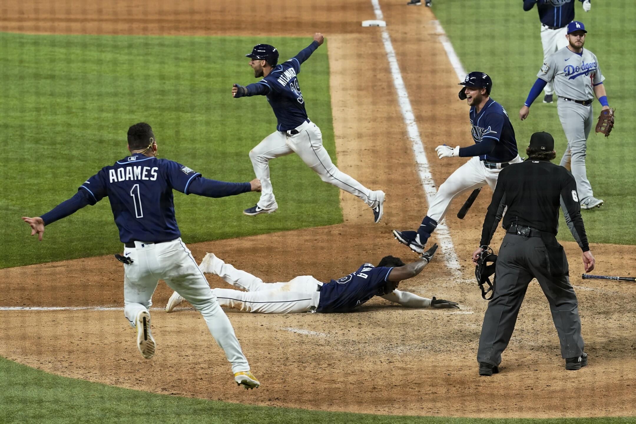 APTOPIX World Series Dodgers Rays Baseball