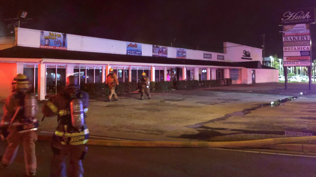 strip mall fire Hillsborough Avenue