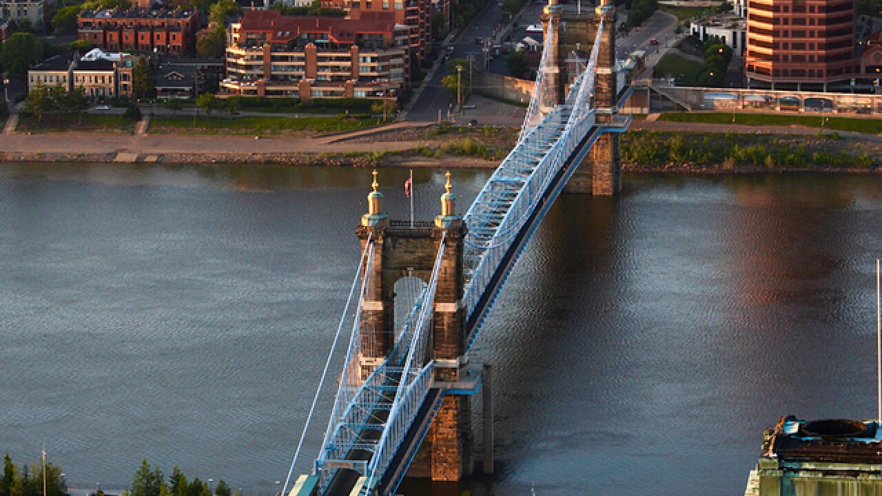 Roebling Bridge will close four times for a bridge inspection