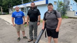 Local businesses help 14-year-old entrepreneur after his leaf blower is stolen