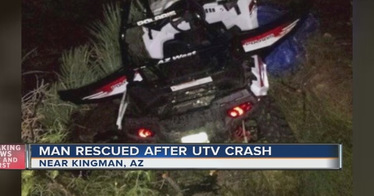 Man survives utility vehicle rollover down Arizona cliff
