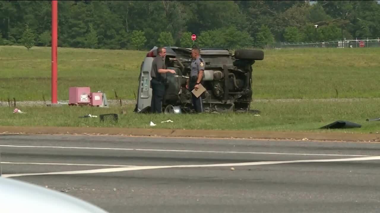 Crash near airport intersection