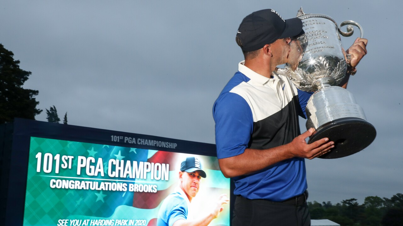 Brooks Koepka holds on, wins PGA Championship again