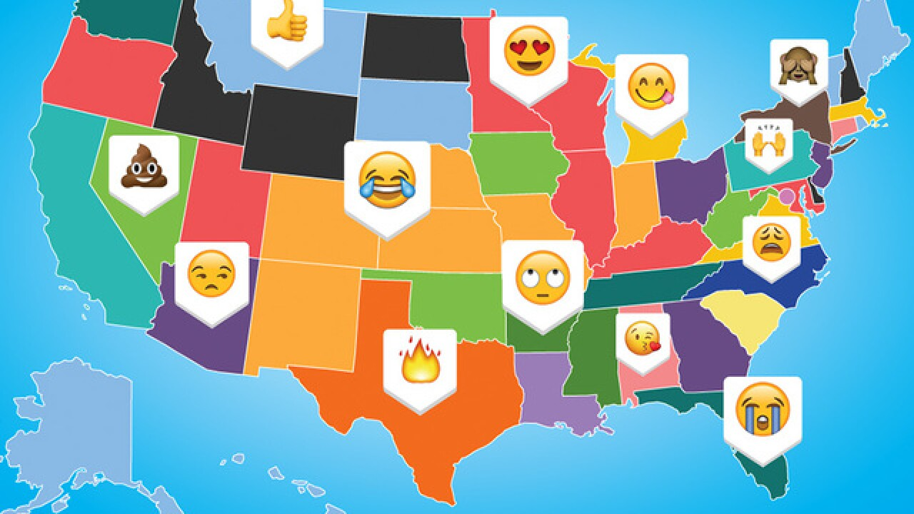 Do you know which emoji is most used in Maryland?