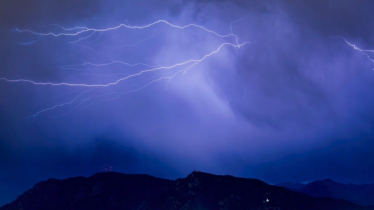 Cheyenne Mountain Lightning Storm