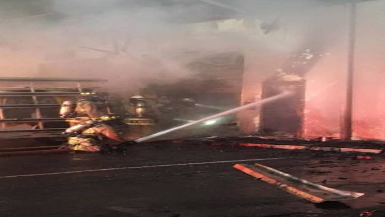 Fire damages warehouse on Benjamein Road